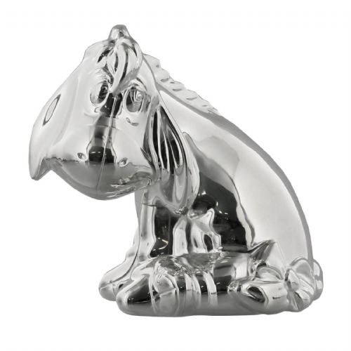 Disney Eeyore From Winnie The Pooh Silver Plated Money Box Gift For Baby and Christenings